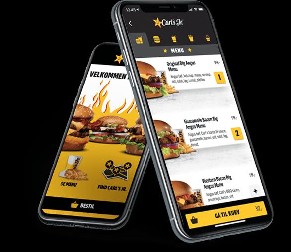 Carl's Jr. Food Pre-ordering App Screenshot